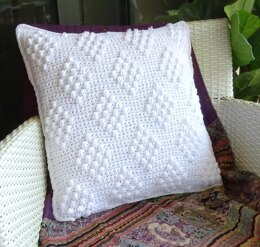 Crochet Cushion Cover With Diamonds