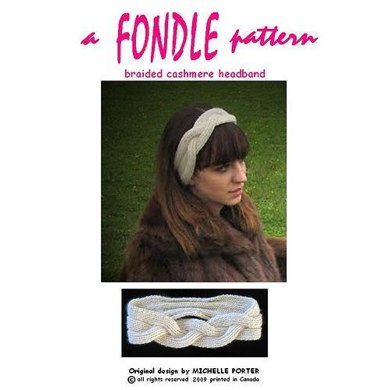 Braided Cashmere Headband 110