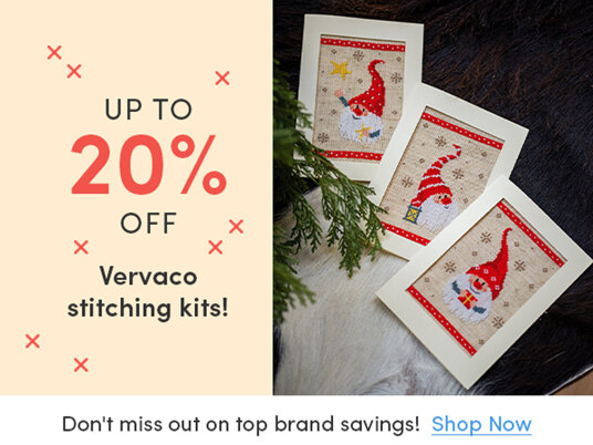 Up to 20 percent off Vervaco stitching kits!