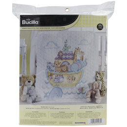 Bucilla Noah's Ark Stamped Cross Stitch Crib Cover