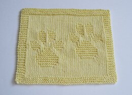 Paw Prints Baby washcloth