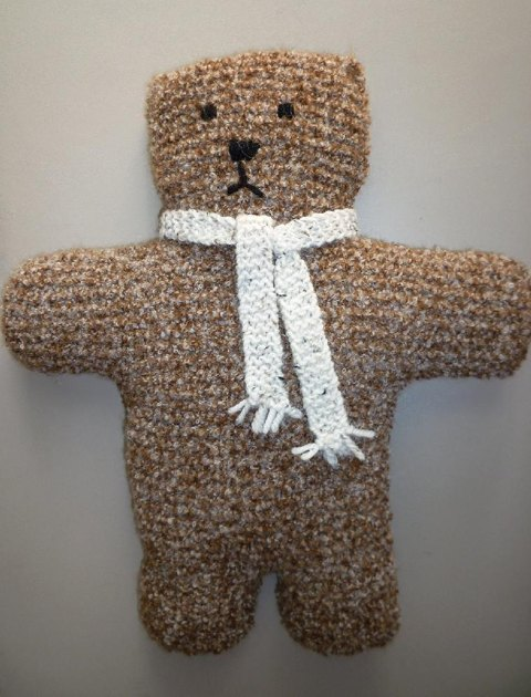 Knitted Alpaca Boucle Bear Knitting pattern by Ellen Rich Knitting Pat...