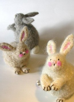 Woolly Felted Bunnies