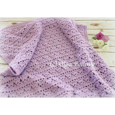 Lilacs in Bloom Baby Blanket