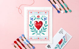 Wool and the Gang Love Story Cross Stitch Kit - 16cm x 23cm