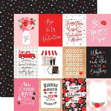 """Echo Park Paper Cupid & Co. Double-Sided Cardstock 12""""X12"""" - 3""""x4"""" Journaling Cards"""