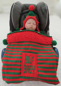 Elf Baby Hooded Car Seat Blanket