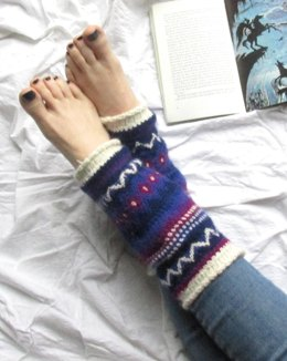 Nebula Leg Warmers in Rooster Alpaca 4 Ply - Downloadable PDF