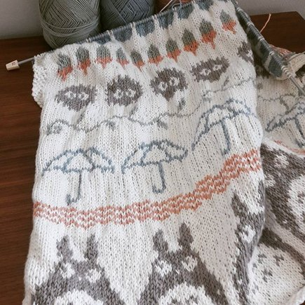 Totoro Baby Blanket Knitting Project By Annie H Loveknitting