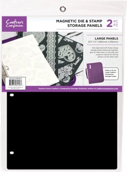 "Crafter's Companion 8.5""X11"" Magnetic Storage Panels 2/Pkg - Large"