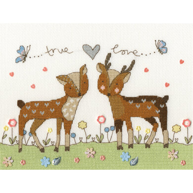 Bothy Threads Love you Deerly Cross Stitch Kit - 25cm x 18cm