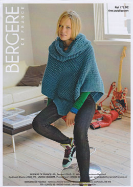 Short Poncho & Snood in Bergere de France Duvetine