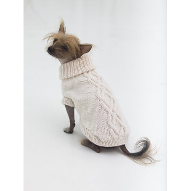 Prep Dog Sweater In Lion Brand Wool Ease L32372 Knitting