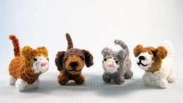 Mini Pets - Tiny Cat and Dog Amigurumi