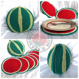 Sliced Watermelon Placemat Set