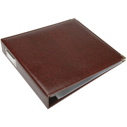 """We R Memory Keepers We R Classic Leather D-Ring Album 12""""X12"""" - Cinnamon"""