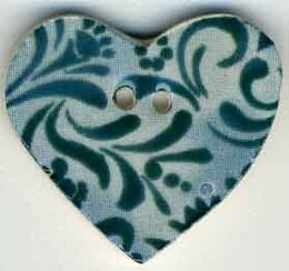 Mill Hill Button 87033 - Teal Hearts Desire