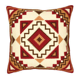 Vervaco Red/Cream Cushion Front Chunky Cross Stitch Kit