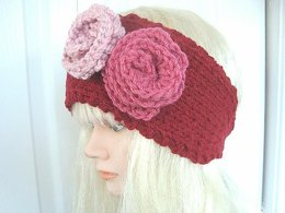 430, KNITTED HEADBAND AND FLOWERS