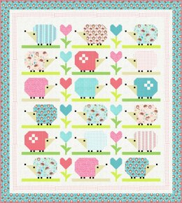 Michael Miller Fabrics Hedge Hugs Quilt - Downloadable PDF