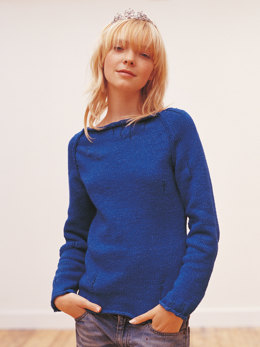 Raspy Sweater in Rowan Original Denim