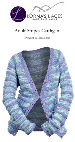 Adult Stripes Cardigan in Lorna's Laces Shepherd Worsted