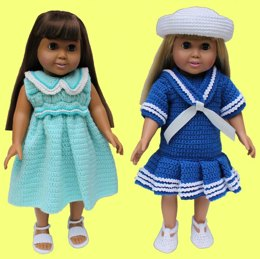 Vintage Schoolgirl Fashions for 18 Inch Dolls