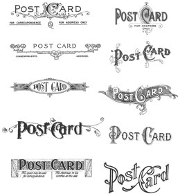 "Stampers Anonymous Tim Holtz Cling Stamps 7""X8.5"" - Postcards"