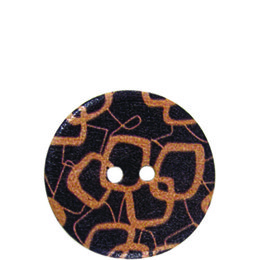 Pattern Wood 20mm 2-Hole Button