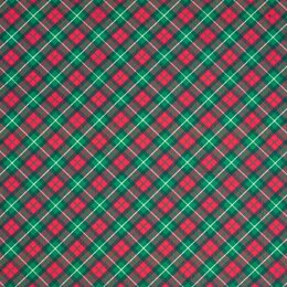 LoveCrafts Christmas Village - Holiday Plaid