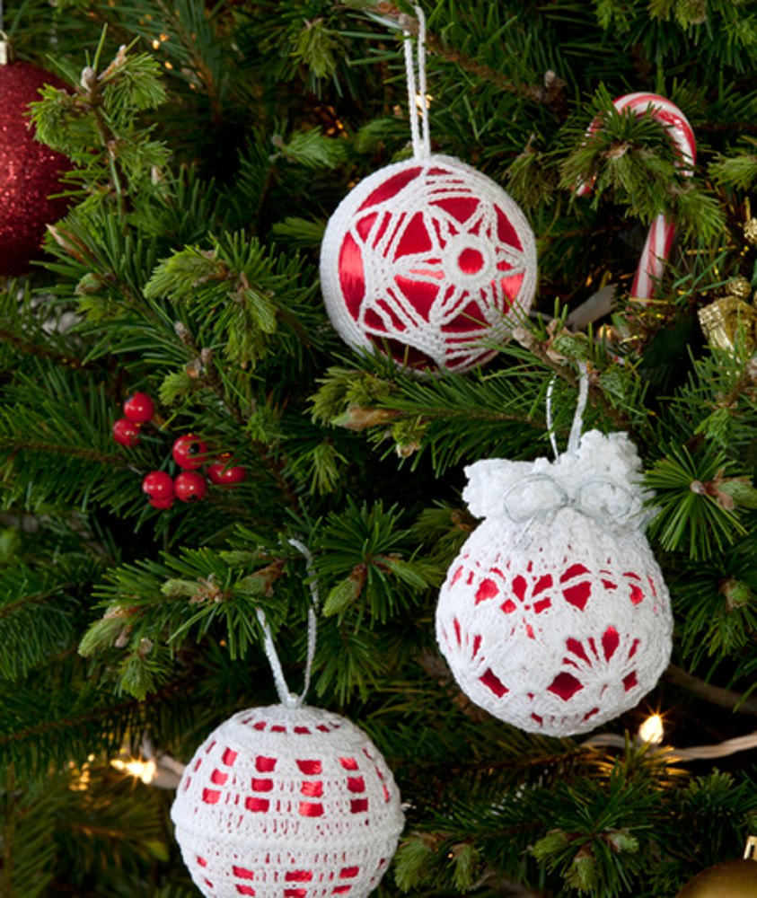Thread Christmas Tree: Christmas Tree Decor In Red Heart Aunt Lydia's Classic