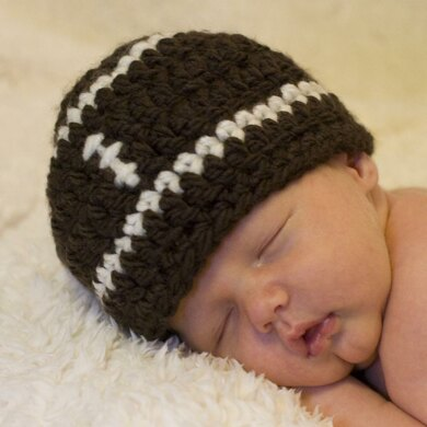 Football Baby Hat Pattern Quick And Easy Crochet Pattern By