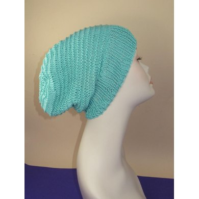 Simple Stripey Spring Slouch Hat