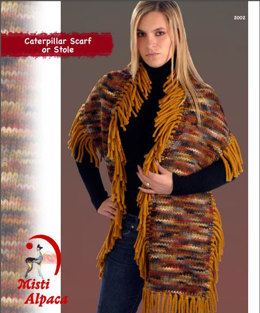 Caterpillar Scarf in Misti Alpaca Hand Paint Chunky - 2002