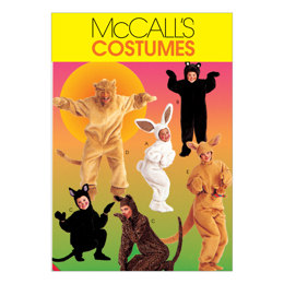 McCall's Adults'/Kids' Animal Costumes M6106 - Sewing Pattern