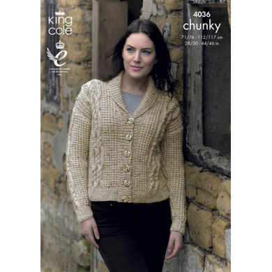 Jacket and Waistcoat in King Cole Chunky Tweed - 4036