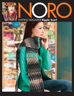 Ripple Scarf in Noro Shiro - 09 - Downloadable PDF
