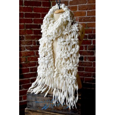 Wrapped Cocoon Scarf in Knit Collage Pixie Dust