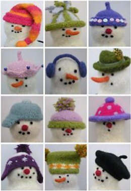 Felted Snowman Hats
