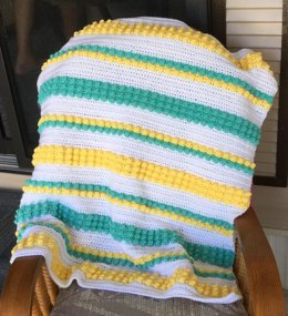 Bobbles and Stripes Baby Blanket