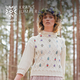 Krans Jumper - Jumper Knitting Pattern For Women in MillaMia Naturally Soft Cotton by MillaMia