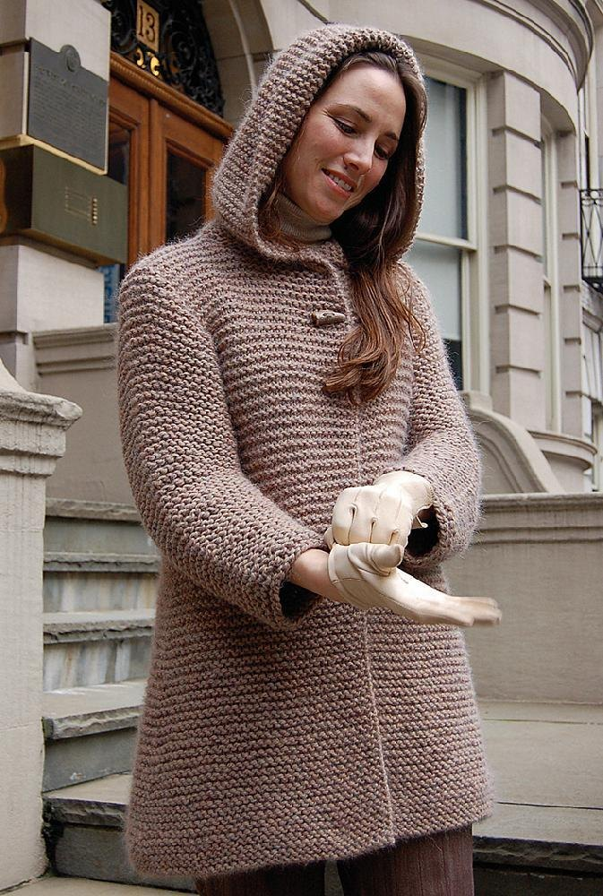Hooded Swing Jacket to Knit Knitting pattern by Valerie ...