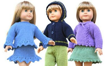 """18"""" Doll Sweaters, Collection Three"""