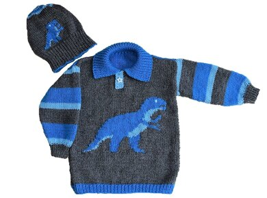 T Rex Sweater and Hat