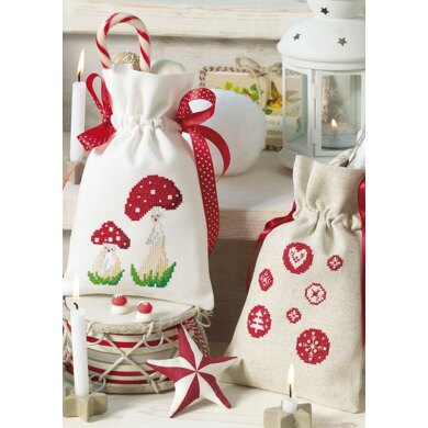 Enchanting Christmas - Toadstool Pair and Circle Sack in Anchor - Downloadable PDF