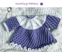 Frilled Dress for premature baby or doll (53)