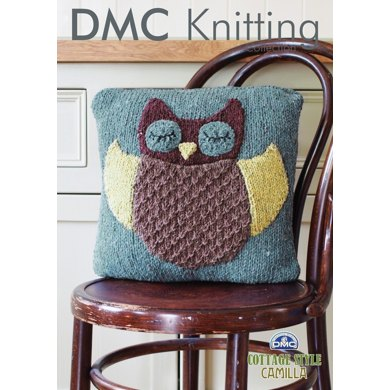 Owl Cushion Cover in DMC Cottage Style Camilla - 15192L/2
