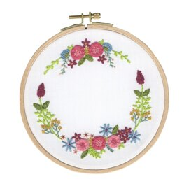 DMC Magical Wreath Embroidery Kit with Hoop