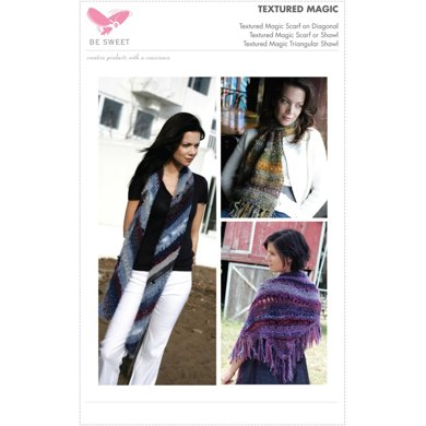 Textured Magic Scarves and Shawl in Be Sweet Specialty Mohair Magic Ball