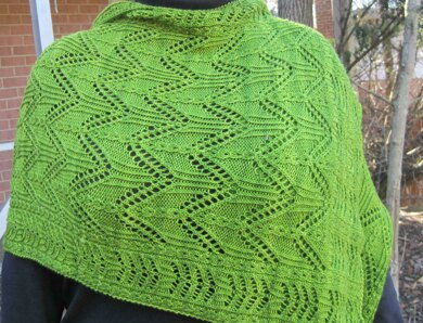 Ton Lace and Mock Cable Shawl